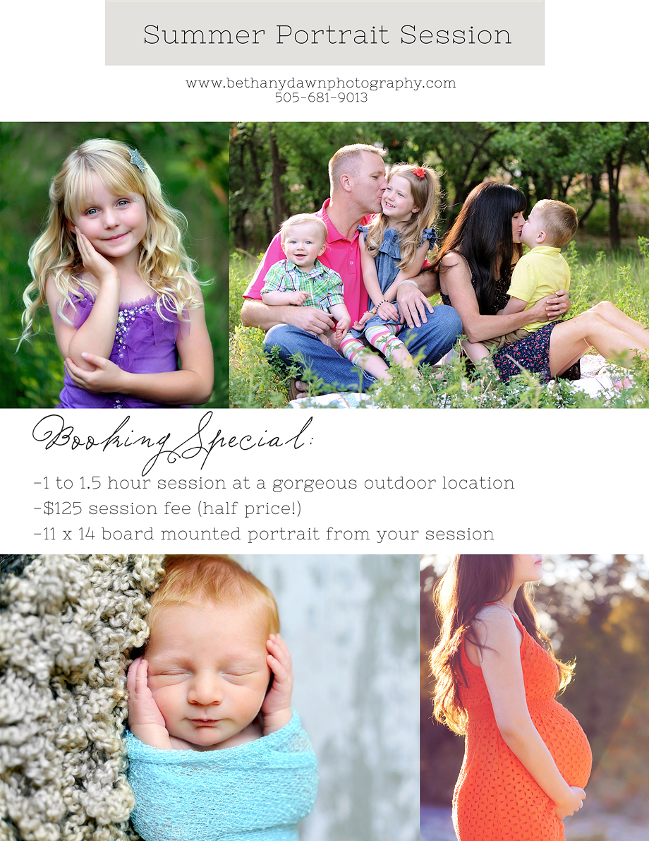 Bethany Dawn Photography Summer Special