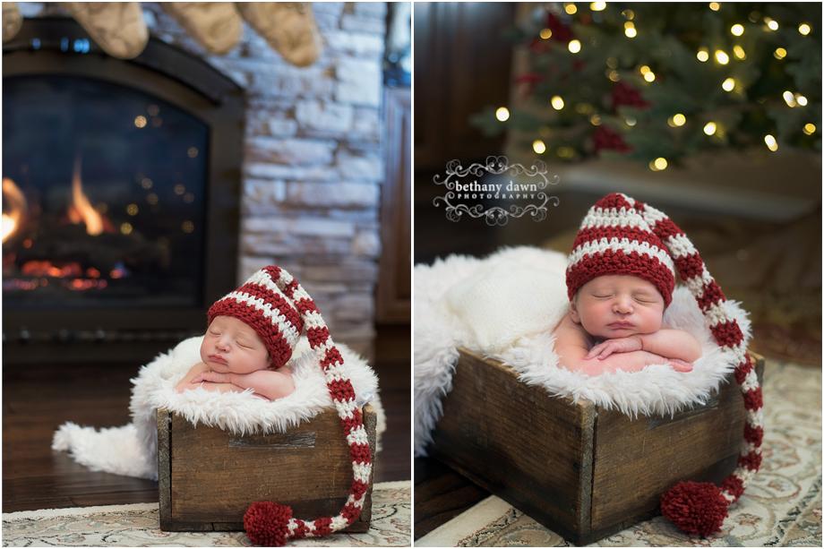 Christmas Albuquerque Newborn Photographer